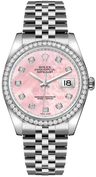 replique Montre bracelet jubilé de diamant rose Rolex Datejust 36 116244