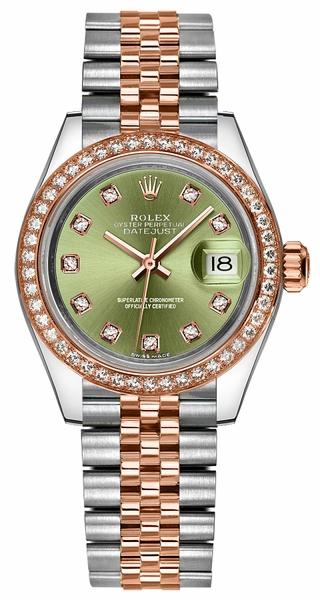 replique Montre bracelet jubilé de diamant vert Rolex Lady-Datejust 28 279381RBR