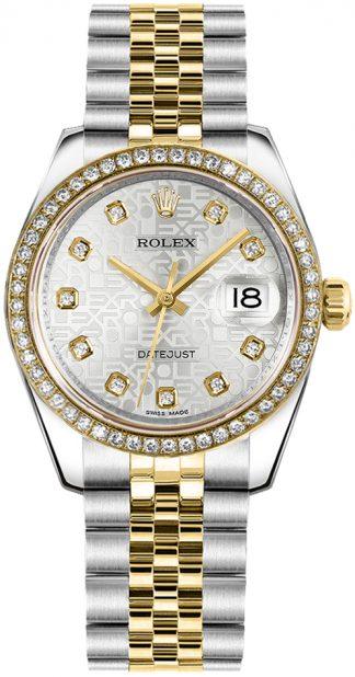 replique Montre dames Rolex Datejust 31 Silver Jubilee Diamond 178383