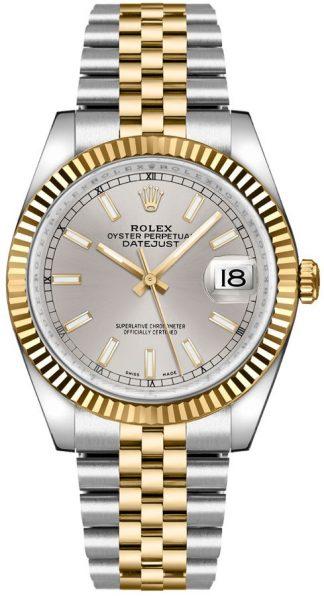 replique Montre de luxe à cadran argenté Rolex Datejust 36 116233