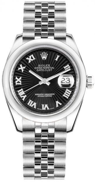replique Montre de luxe à cadran noir Rolex Datejust 31 178240