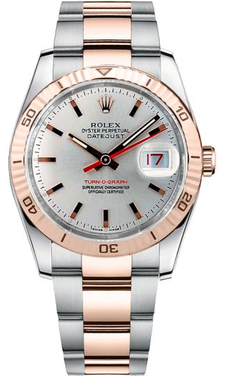 replique Montre de luxe Rolex Datejust 36 Everose or et acier 116261