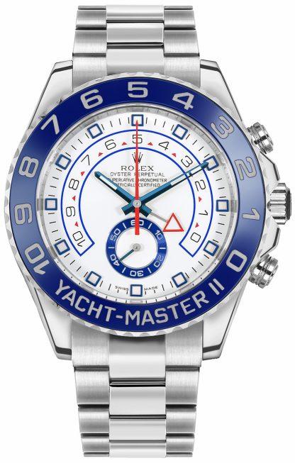 replique Montre de luxe pour homme à cadran blanc Rolex Yacht-Master II 116680