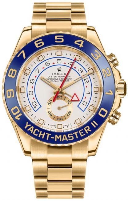 replique Montre de luxe pour homme en or jaune 18k Rolex Yacht-Master II 116688