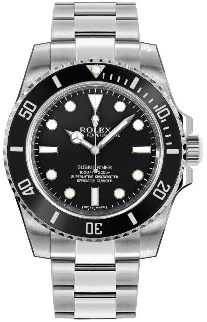 replique Montre de plongée de luxe pour homme Rolex Submariner cadran noir 114060