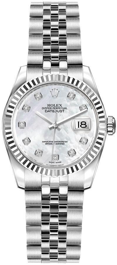 replique Montre de vadrouille pour femme Rolex Lady-Datejust 26 179174