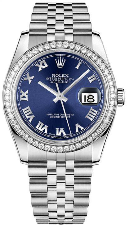 replique Montre diamant Rolex Datejust 36 pour femme 116244