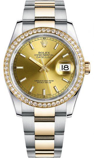 replique Montre en or Rolex Datejust 36 pour femme 116243