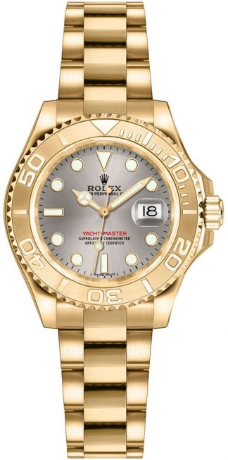 replique Montre en or Rolex Yacht-Master 29 pour femme 169628