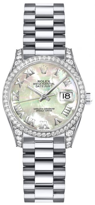 replique Montre en or pour femme Rolex Lady-Datejust 26 179159