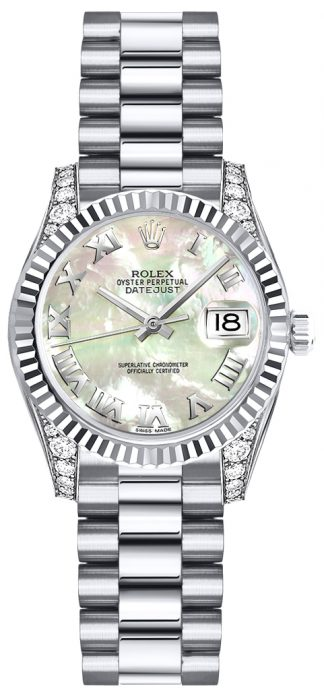 replique Montre en or pour femme Rolex Lady-Datejust 26 179239
