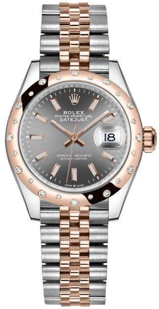 replique Montre femme Rolex Datejust 31 à lunette sertie de diamants 278341RBR