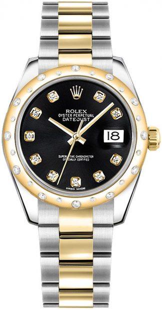 replique Montre femme Rolex Datejust 31 Black Diamond 178343