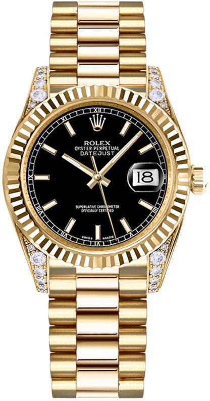 replique Montre femme Rolex Datejust 31 Diamond 178238