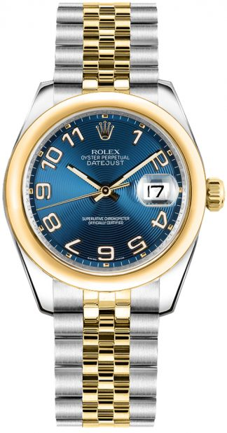replique Montre femme Rolex Datejust 31 cadran bleu 178243