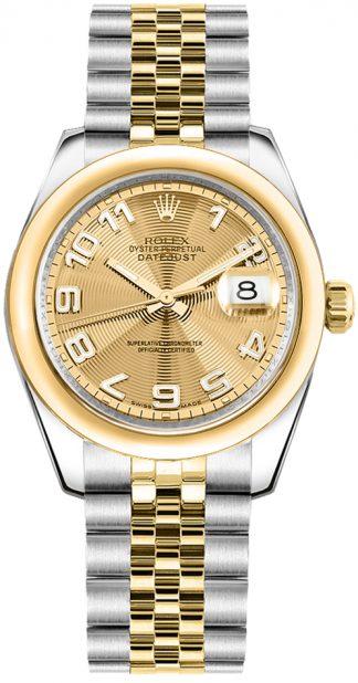 replique Montre femme Rolex Datejust 31 cadran champagne 178243