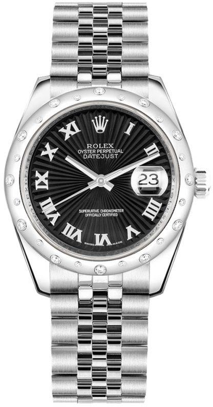 replique Montre femme Rolex Datejust 31 cadran noir 178344