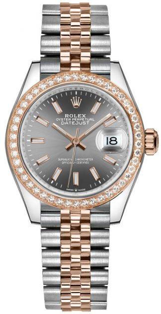 replique Montre femme Rolex Datejust 31 cadran rhodié foncé 278381RBR