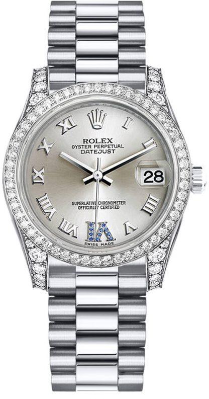 replique Montre femme Rolex Datejust 31 en or blanc 178159