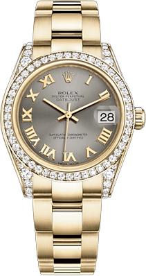 replique Montre femme Rolex Datejust 31 en or massif 178158