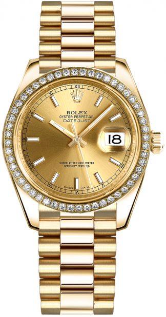 replique Montre femme Rolex Datejust 31 en or massif 178288