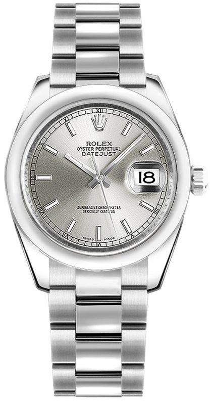 replique Montre femme cadran argenté Rolex Datejust 31 178240