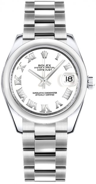 replique Montre femme cadran blanc Rolex Datejust 31 178240