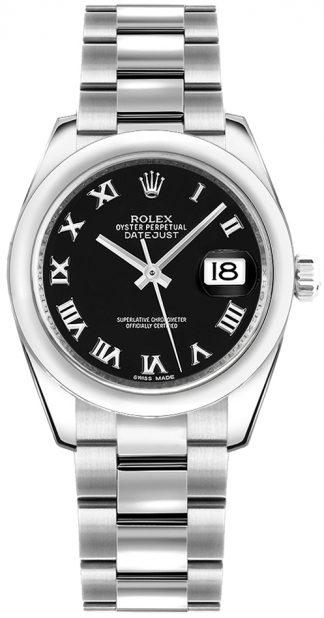 replique Montre femme cadran noir Rolex Datejust 31 178240