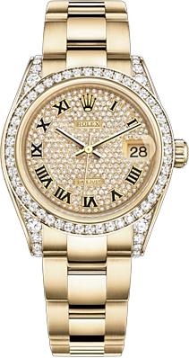 replique Montre femme suisse Rolex Datejust 31 Diamond 178158
