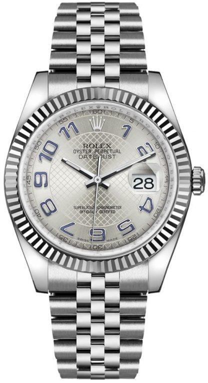 replique Montre homme Rolex Datejust 36 cadran argenté 116234