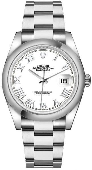 replique Montre homme Rolex Datejust 36 cadran blanc chiffres romains 126200