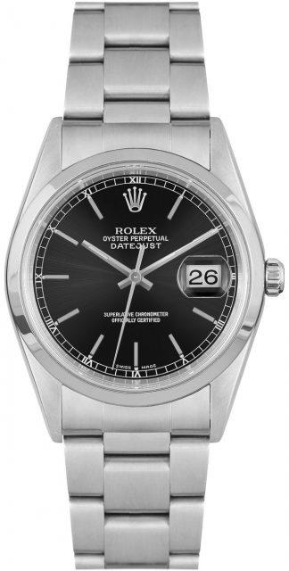 replique Montre homme Rolex Datejust 36 cadran noir 16200