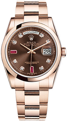 replique Montre homme Rolex Day-Date 36 Gold 118205