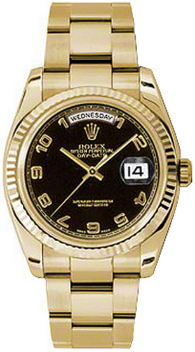replique Montre homme Rolex Day-Date 36 en or jaune 118238