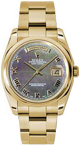 replique Montre homme Rolex Day-Date 36 en or jaune massif 118208