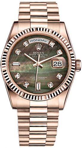 replique Montre homme Rolex Day-Date 36 en or rose massif 18 carats 118235