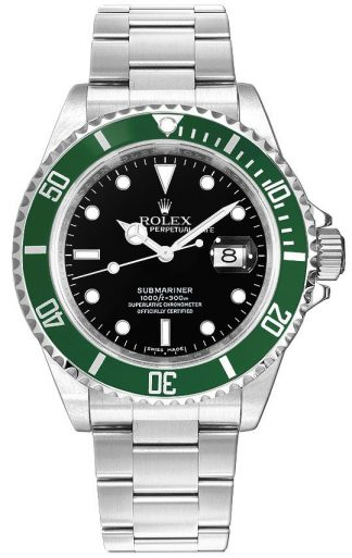 replique Montre homme Rolex Submariner Date Kermit cadran noir 16610