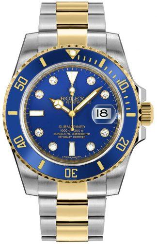replique Montre homme Rolex Submariner Date cadran bleu 116613
