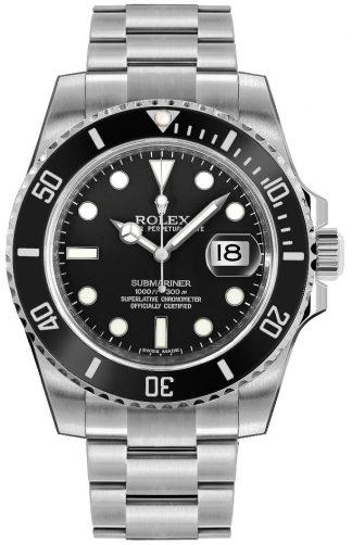 replique Montre homme Rolex Submariner Date cadran noir 116610LN