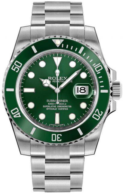 replique Montre homme Rolex Submariner Date cadran vert 116610LV