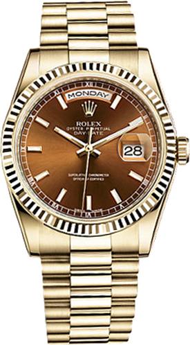replique Montre homme de luxe Rolex Day-Date 36 118238