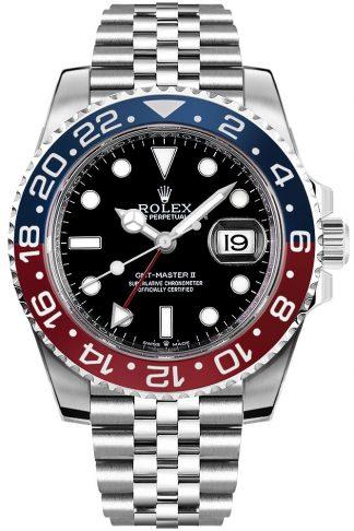 replique Montre homme de luxe Rolex GMT-Master II Pepsi 126710BLRO