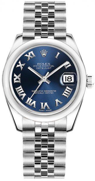replique Montre pour femme Rolex Datejust 31 à cadran bleu 178240