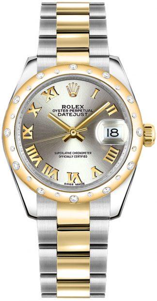 replique Montre pour femme Rolex Datejust 31 en or massif et acier 178343