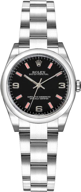 replique Montre pour femme Rolex Oyster Perpetual 26 cadran noir 176200