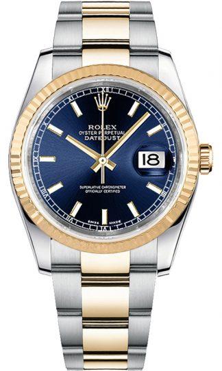replique Montre pour homme Rolex Datejust 36 cadran bleu 116233