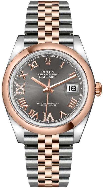 replique Montre pour homme Rolex Datejust 36 en or rose et acier 126201