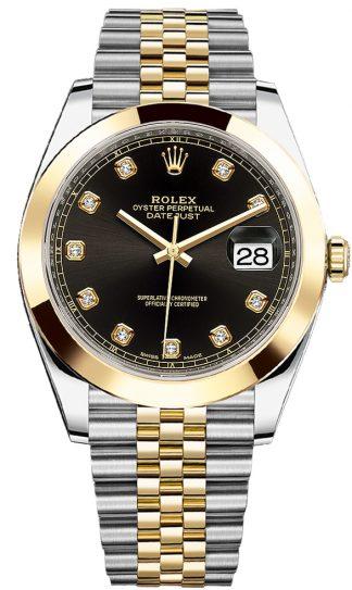 replique Montre pour homme Rolex Datejust 41 Black Diamond 126303