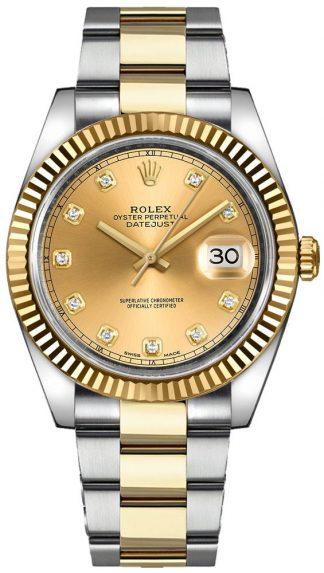 replique Montre pour homme Rolex Datejust 41 Diamond 126333