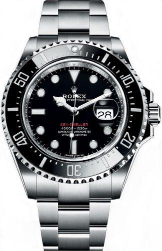 replique Montre pour homme Rolex Sea-Dweller cadran noir 126600